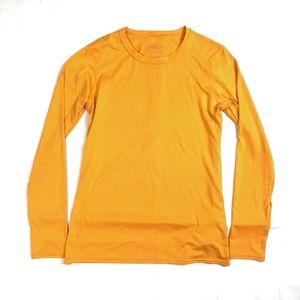 Patagonia Capilene Mens Size M Yellow Shirt Long